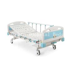 CE / ISO13485 Manuel de levage arrière Lit d'hôpital ABS avec une manivelle