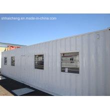 Precio de la casa de contenedor habitable de paquete plano de 20 pies en Sudáfrica
