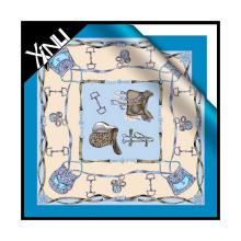 Diseños personalizados Impresión digital Custom Print Silk Scarf