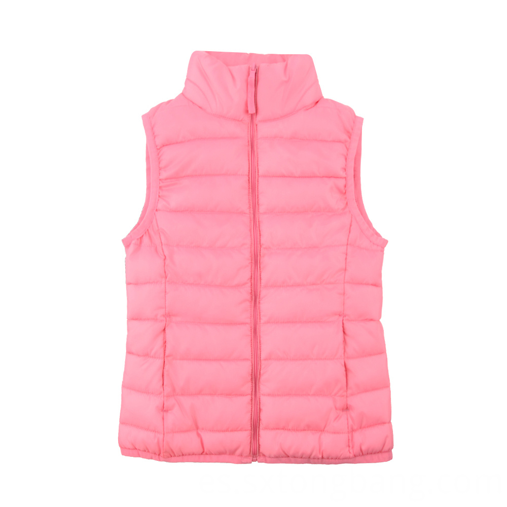 Padded Vest with Stand Collar