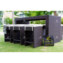 High End PE Rattan All Weather Bar Set With Great Design For Outdoor Garden Furniture