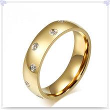 Anillo de dedo de la joyería cristalina de la joyería del acero inoxidable (SR168)
