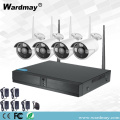 CCTV 4CH 1.0MP Sistem WiFi Nirkabel NVR