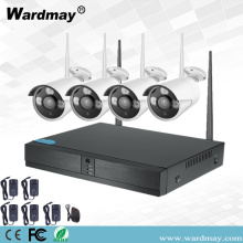 CCTV 4CH 1.0MP Wireless WiFi NVR-systeem