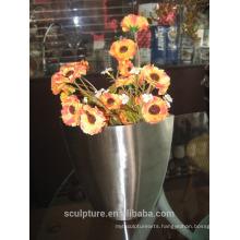 2016 New High Quality 304 Stainless Steel Modern Flowerpot Home Decoration Garden Modern Flowerpot