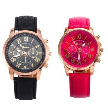 Fashion Personalized Leather Band Quartz Watch