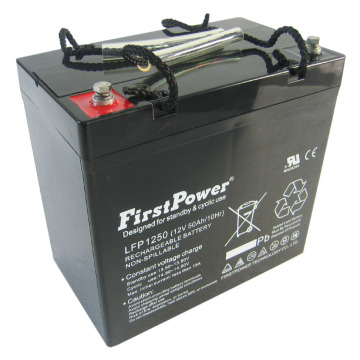 Aplicaciones comerciales Reserva Deep Cycle Battery12V50AH