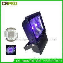 LED luz de inundación UV industrial 100W con 385nm a 400nm
