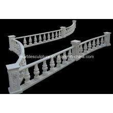 White Carrara Stone Sculpture Stair Balustrade (SY-B007)