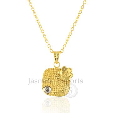 Оптовый Поставщик Пирит серебро 925 пробы серебро ожерелье