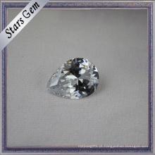 Sparkle Pear Brilliant Excelente Corte Branco Cubic Zirconia