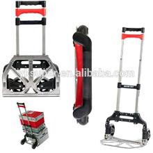 Foldable aluminum shopping cart trolley