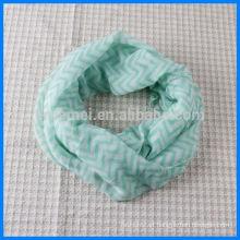Customized printed infinity scarf chevron