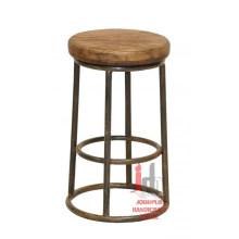 Taburete de bar con tapa de madera