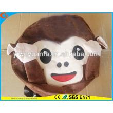 Estilo encantador estilo de moda de peluche relleno emoji monkey mochila escuela para niños