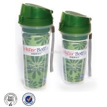 garrafa de água de plástico com infusor de chá, 540ml