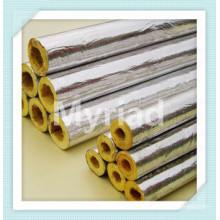 La venta caliente cura el paño de la fibra de vidrio de Alu del aislamiento para el material de construcción, el conducto de aire, la capa de la pipa