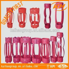 """API 10D 7"""" hinged/rigid Non Weld Bow type casing centralizer"""