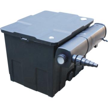 Cubo de filtro de equipo de filtro de estanque con lámpara UV