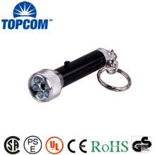Laser e luz branca Mini lanterna LED Keychain