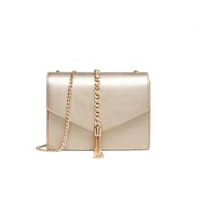 Ladies Front Chain and Tassel PU Shoulder Handbag Wzx1180