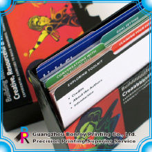 cartões de papel flash impressão cartão de papel duro cartão de jogo de papel