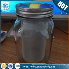 Wholesale mason jar steel coffee filter tube/iced tea coffee maker filter tube