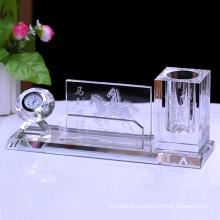 Titular de bolígrafo de cristal de regalo de socio comercial personalizado
