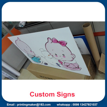 Wall Mounted PVC Boards dengan Plastic Frame Edge