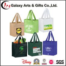 Saco de compra plástico não tecido relativo à promoção do presente do Tote para mulheres