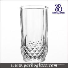 Coupe de verre super blanc avec design de diamant (GB040809ZS)