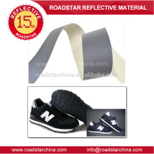Silver reflective PVC leather for shoes