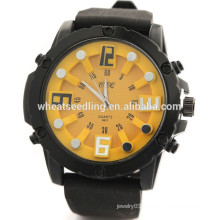 5 Colors men's big dial thin rubber sport watch