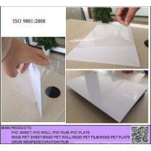 Placa rígida lustrosa branca do PVC de 2.0mm para anunciar