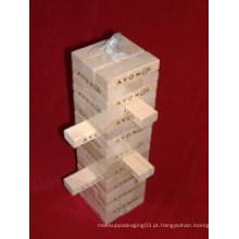 54PCS Jenga de madeira