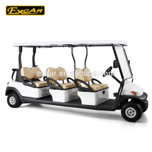 Electric buggy car, chinese 6 seater Trojan battery electric golf cart for sale