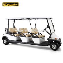 Carro de buggy elétrico, carrinho de golfe elétrico da bateria Trojan do seater do chinês 6 lugares para a venda