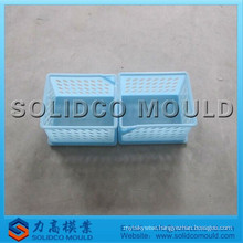 Wcker laundry basket mould and plastic injection mould