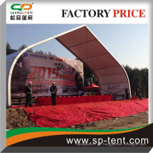 2015 Guangzhou Lokale Auto Racing Zeremonie gebogene gespannte Zelte China Zelt Lieferant