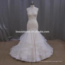 Vestido de novia lisonjeras de la sirena de la mariposa vestido de boda nupcial yiwu