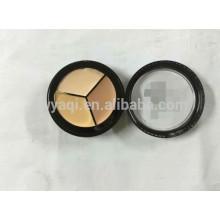 Cosméticos à prova d'água 3 cor corretivo paleta maquiagem