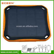 5V, 5600 mah dual USB output solar emergency charger with LED light