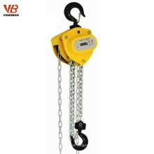 equipo de elevación manual alzamiento de cadena del braguero del bloque de cadena