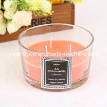 Bougie parfumée en verre carré décoratif