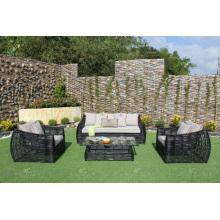 Niza diseño sintético sofá de ratán para jardín al aire libre o muebles de sala de estar de mimbre