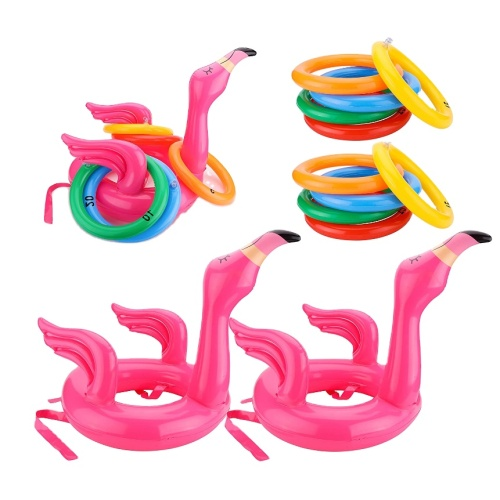 Eastommy Urlaub Flamingo Inflatable Ring Toss Game