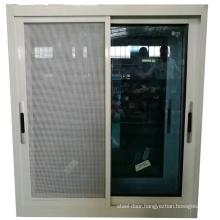 aluminium material   blue tinted glass sliding window