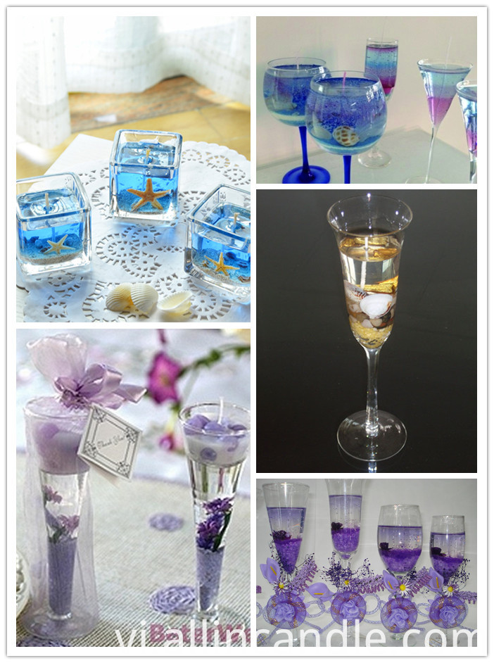 Decorative Gel Wax Beer Candle/Jelly Wax Candle