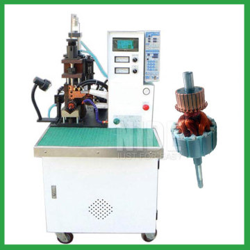 Automatic rotor commutator hook welding machine