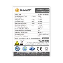 450W Pv Modules Mono Solar Panel